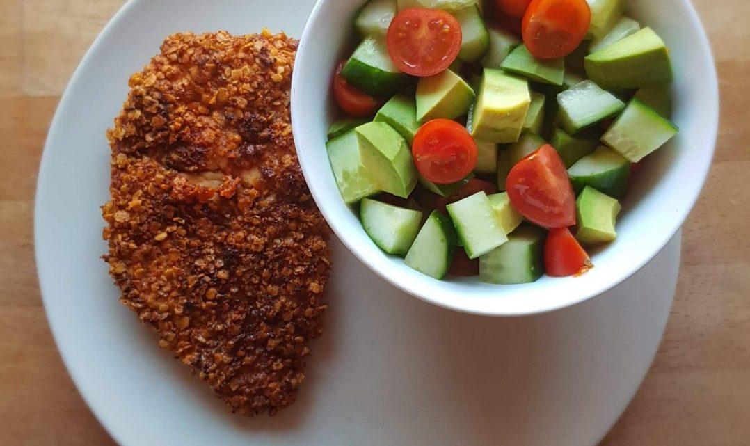 Havregrynspaneret kylling