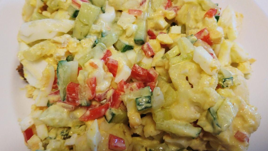 Æggesalat på rugbrød