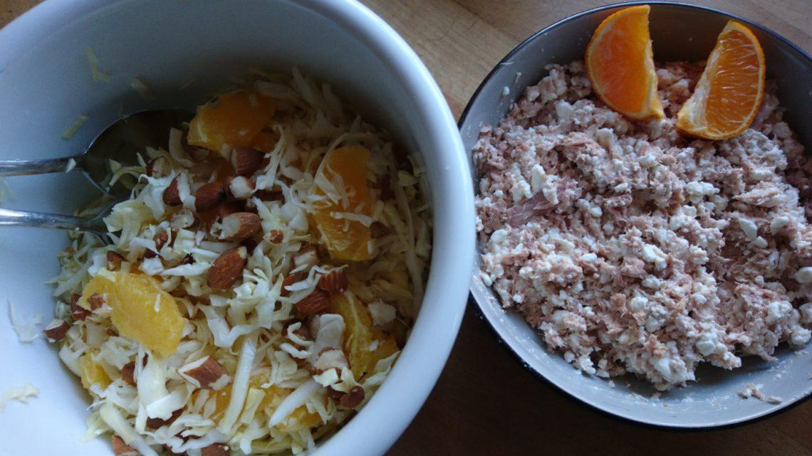 Tun med kål og appelsin