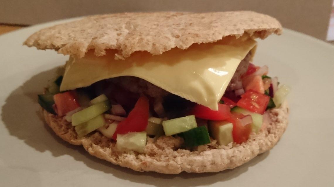 Pita burger med salsa