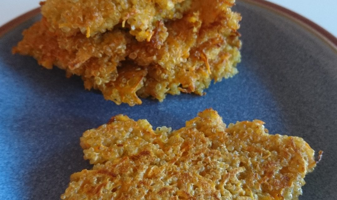 Fritter med quinoa og gulerødder